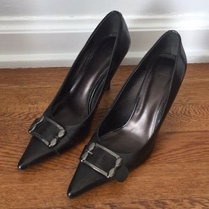 Nine West Pointy Toe Gunmetal Heels